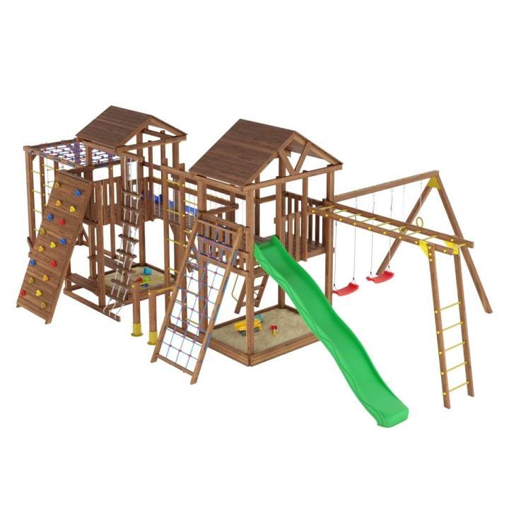 Деревянная детская площадка №14